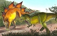 Allosaurus & Stegosaurus by John Bindon