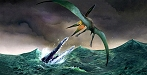 Polycotylus & Pteranodon by John Bindon